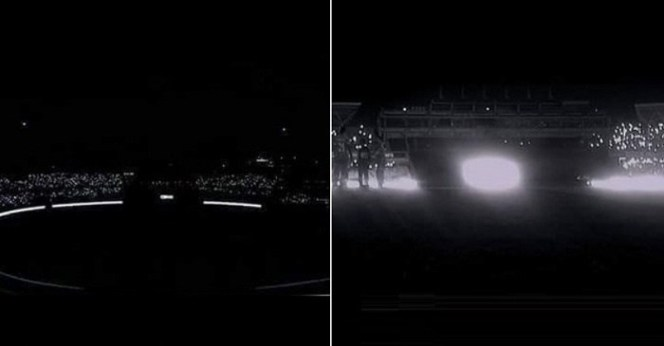 Crowd pull out smartphones to provide light after power-failure halted during Bangladesh vs Zimbabwe