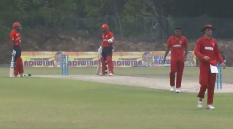Watch: Canadian Cricketers Ravinderpal Singh and Hamza Tariq hilarious run out against Denmark