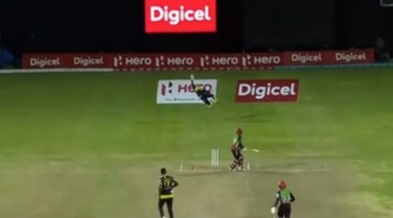Glenn Phillips grabs spectacular one-handed stunner: The Tallawahs wicket-keeper put on display an incredible fielding effort last night.