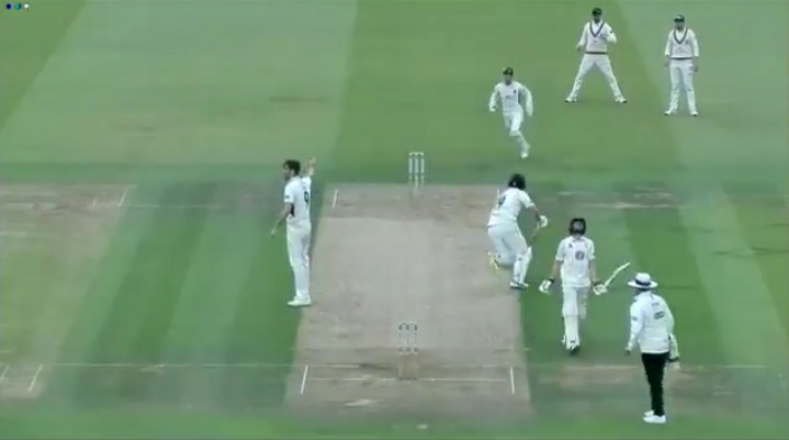 Batsman runs out because of Non-Striker in Middlesex County Match