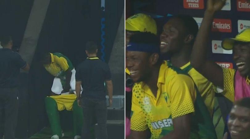 Canada Vs Nigeria: Watch Sulaimon Runsewe hilariously runs for Bathroom Break