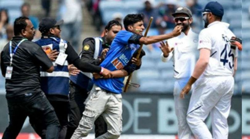 Ind vs Sa: Watch Rohit Sharma falls down has the fan rushes to touch his feet