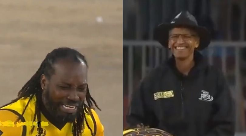 WATCH: Chris Gayle baby cry face after umpire declining his appeal in Mzansi Super League