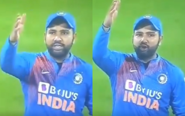 Watch: Rohit Sharma shows his anger on Third umpire after pressing the wrong button