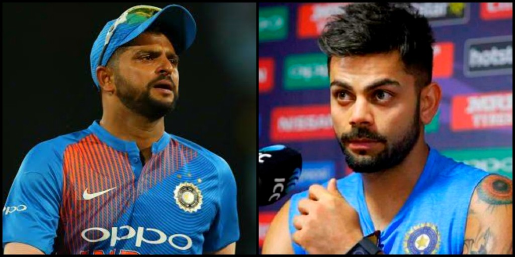 Virat Kohli gets trolled after calling Suresh Raina with another name