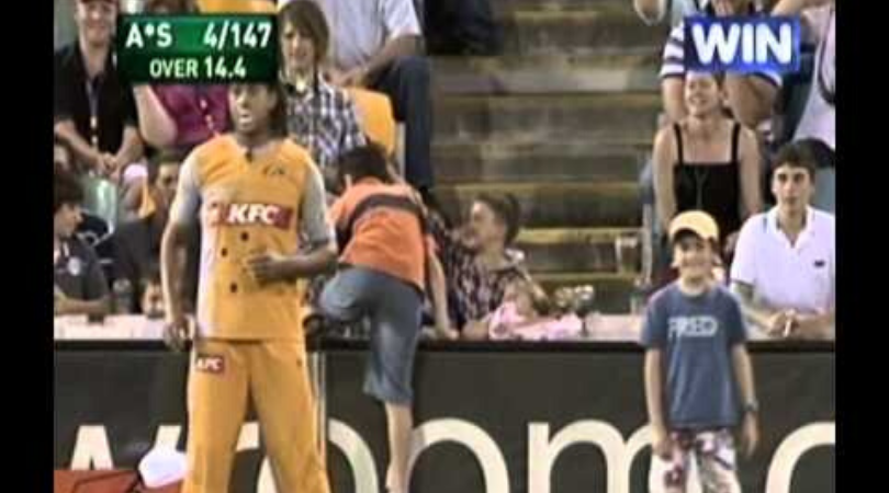 Andrew Symonds allowed two kids to field back in 2008