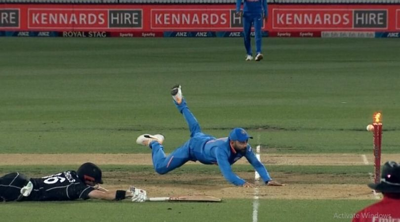 Watch Virat Kohli's Mind boggling fielding effort to run-out Henry Nicholls in the First ODI at Hamilton