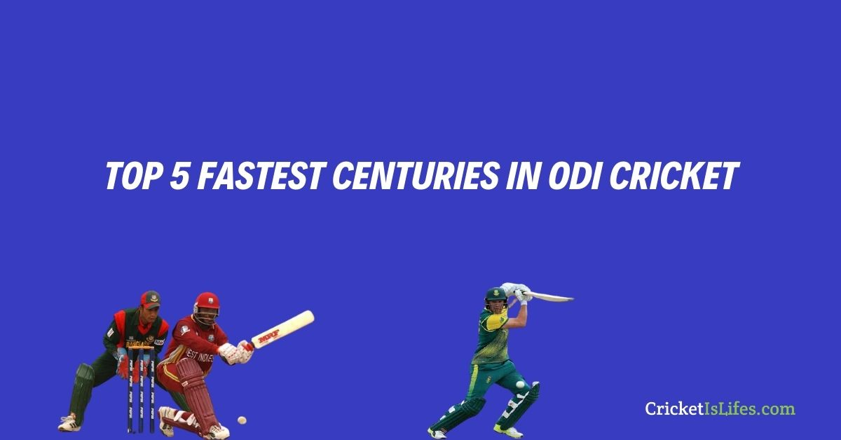 Top 5 Fastest Hundreds in the History of ODI Cricket